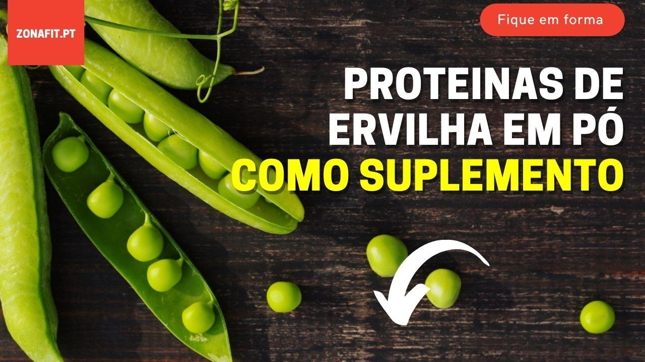 proteínas de ervilha em pó como suplemento